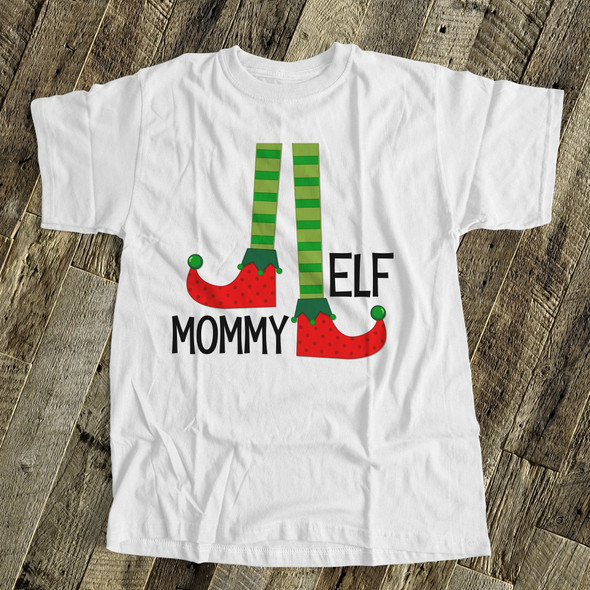 Christmas mommy elf Tshirt