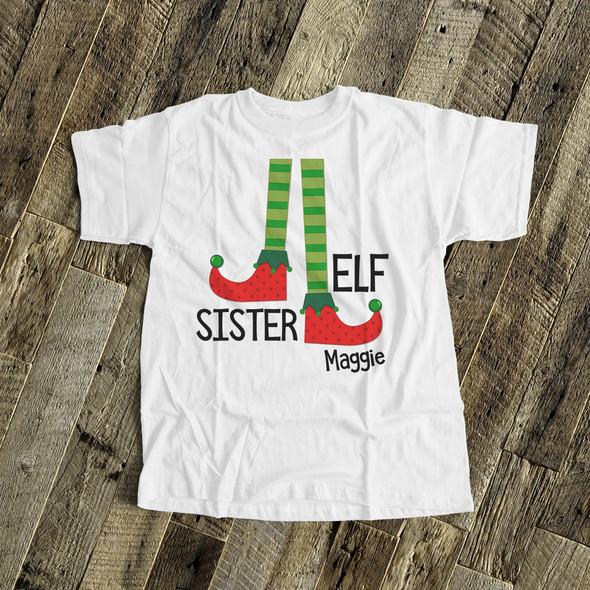 Christmas sister elf Tshirt