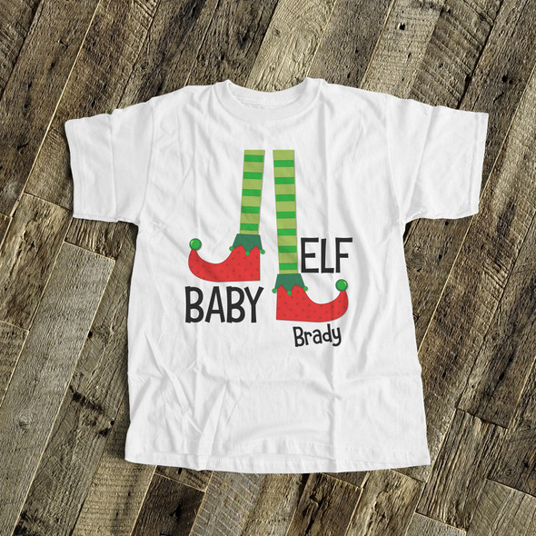 Christmas baby elf bodysuit or Tshirt