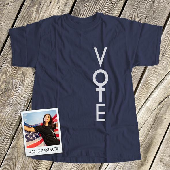 Vote for women feminist unisex crew neck or women's v-neck DARK shirt