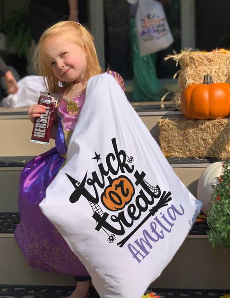 Halloween treat bag pillowcase