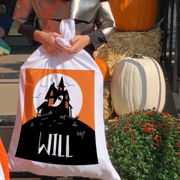 Halloween haunted house treat bag pillowcase
