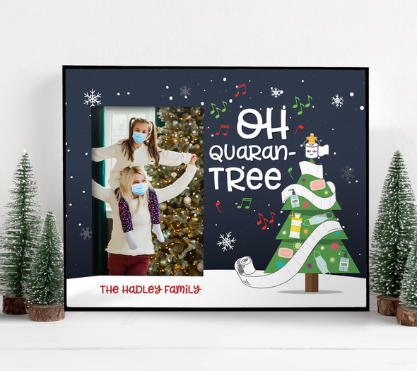 Christmas 2020 oh quaran-tree personalized photo frame