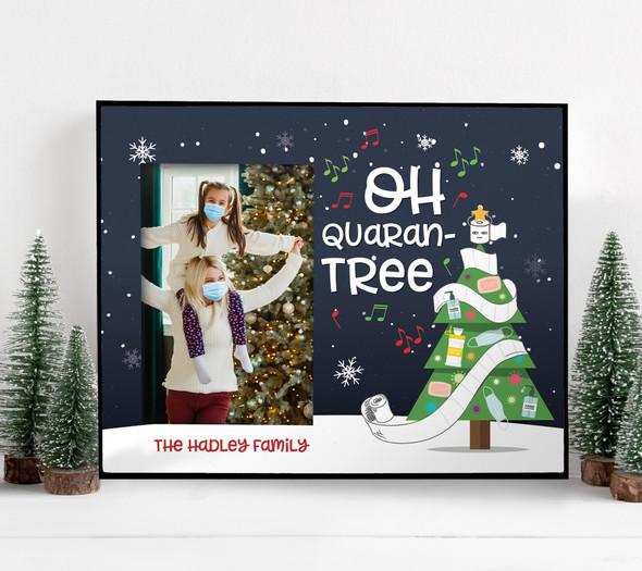 Christmas 2020 oh quaran-tree personalized photo frame