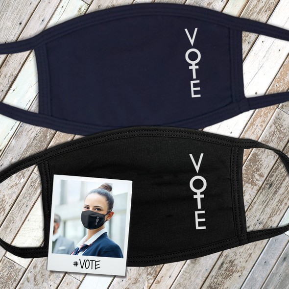 Vote for women feminist dark face mask
