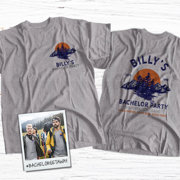 Bachelor party good friends good beer good times personalized Tshirt