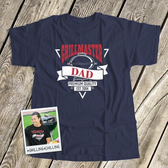 Grillmaster dad custom DARK Tshirt