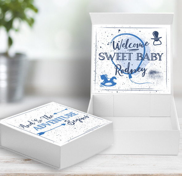 Welcome sweet baby personalized  gift box