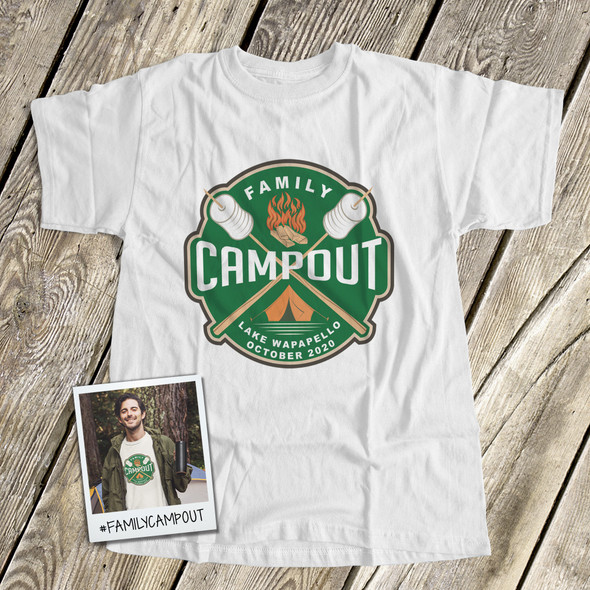 Family campout vacation personalized unisex Tshirt