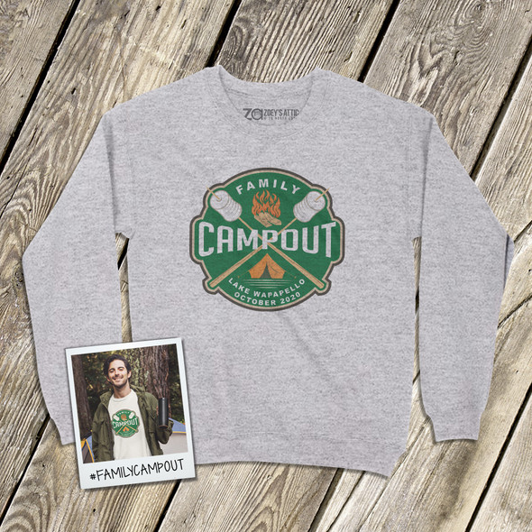 Family campout vacation adult crew neck sweatshirt