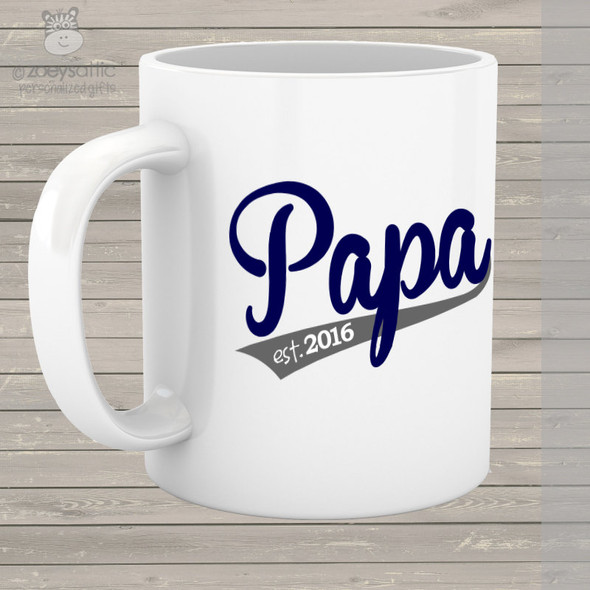 Coffee mug papa established any year custom mug