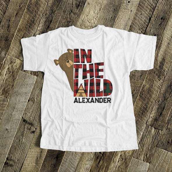 Bear in the wild personalized Tshirt