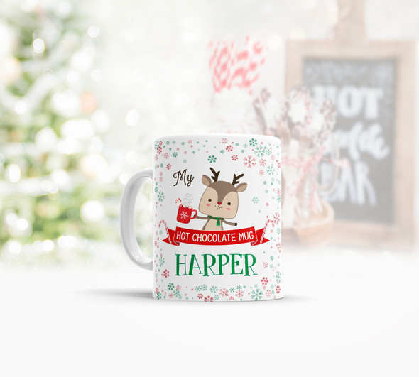 Kids hot chocolate cocoa camp personalized mug