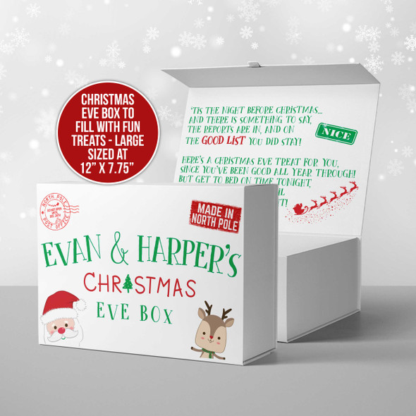 Christmas eve kids personalized treat box