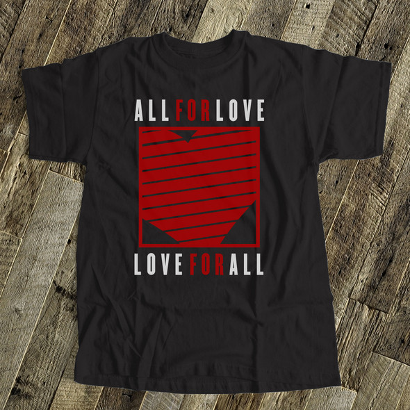 Valentine all for love love for all DARK Tshirt
