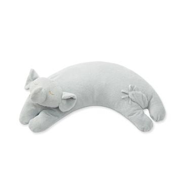 Grey Elephant Curved Pillow by Angel Dear