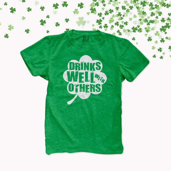 St. Patrick's Day drinks well with others DARK Tshirt