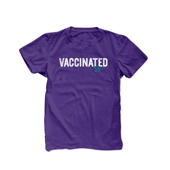 Vaccinated check mark coronavirus covid-19 vaccination unisex adult DARK Tshirt