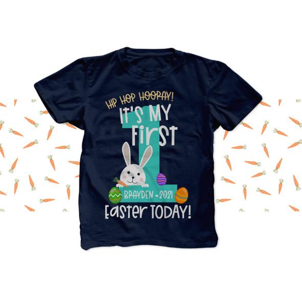 Easter bunny hip hop 1st Easter DARK Tshirt or bodysuit
