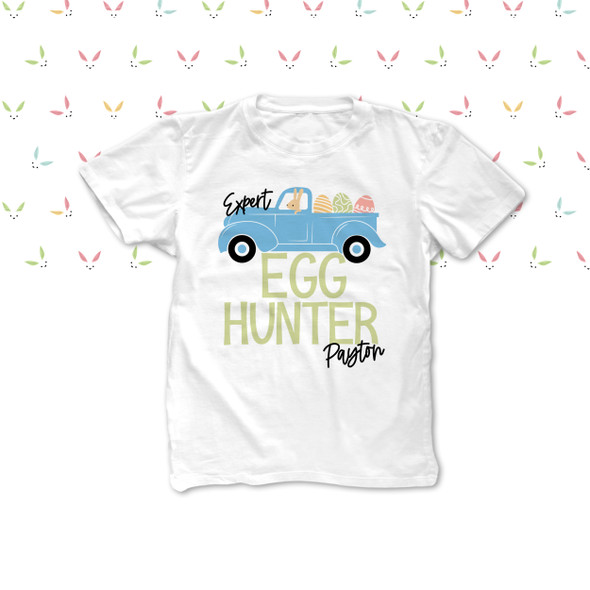Easter egg hunter boy personalized Tshirt