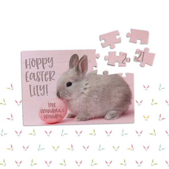 Hoppy Easter personalized puzzle