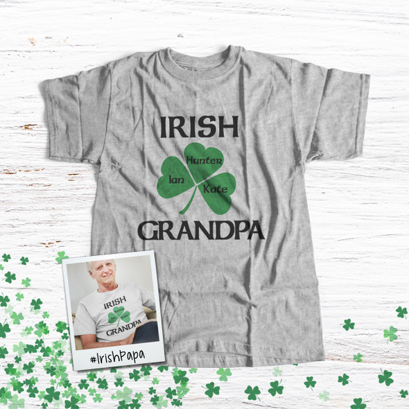 Grandpa or papa shirt Irish grandpa personalized Tshirt