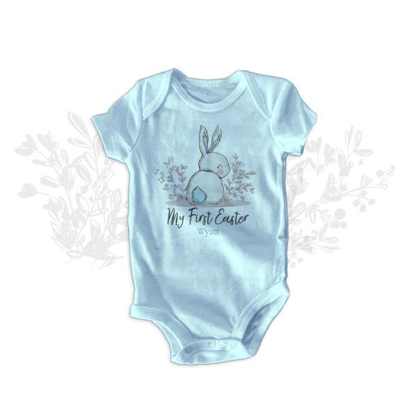 My First Easter sweet bunny boy bodysuit or tshirt