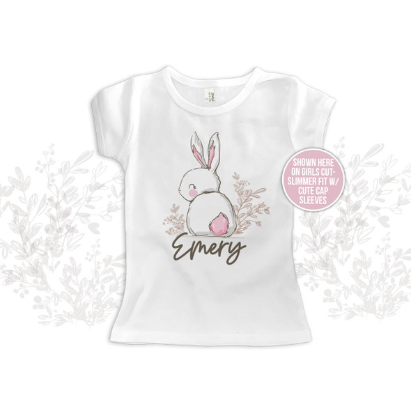 Easter girl sweet bunny pink cottontail Tshirt