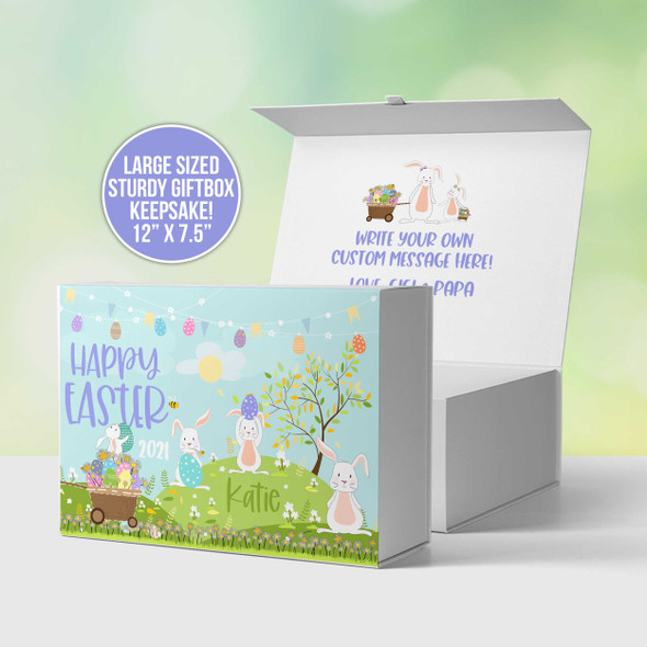 Happy Easter personalized keepsake gift box
