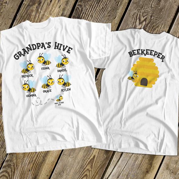 Grandpa shirt beekeeper hive grandpa personalized Tshirt