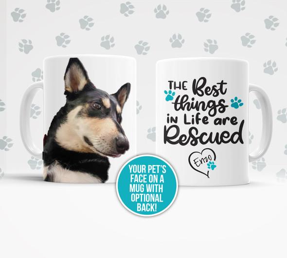 Pet photo dog rescued pet personalized tea coffee mug