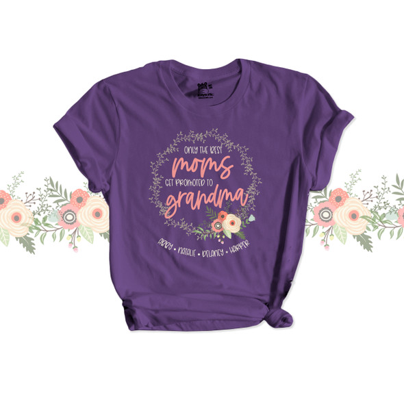 Only the best moms get promoted to grandma DARK Tshirt