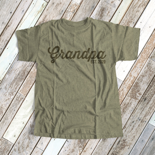 Grandpa shirt grandpa established any year custom DARK Tshirt