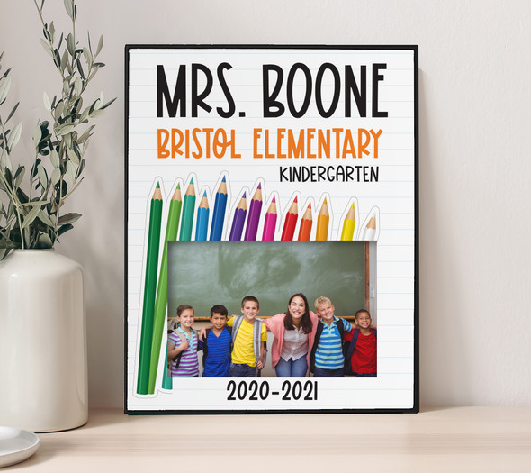 Teacher gift personalized class photo frame