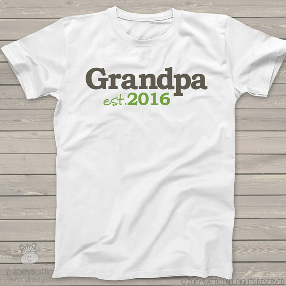 Grandpa shirt grandpa established any year custom Tshirt