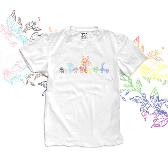 Gardening colorful potted plants Tshirt