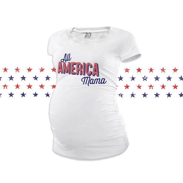 July 4th all america mama non-maternity or maternity Tshirt