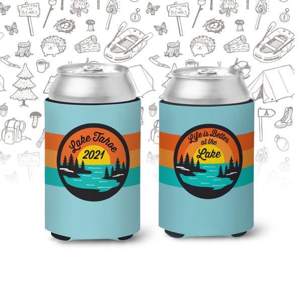Vacation life is better at the lake personalized slim or regular size can coolie