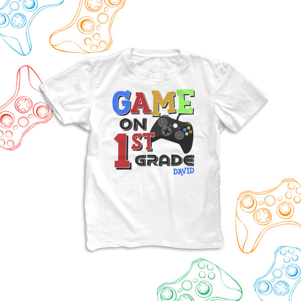 Student back to school game on 1st grade 2nd grade 3rd grade personalized Tshirt