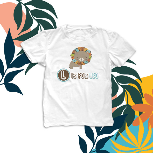 Colorful lion personalized kids Tshirt