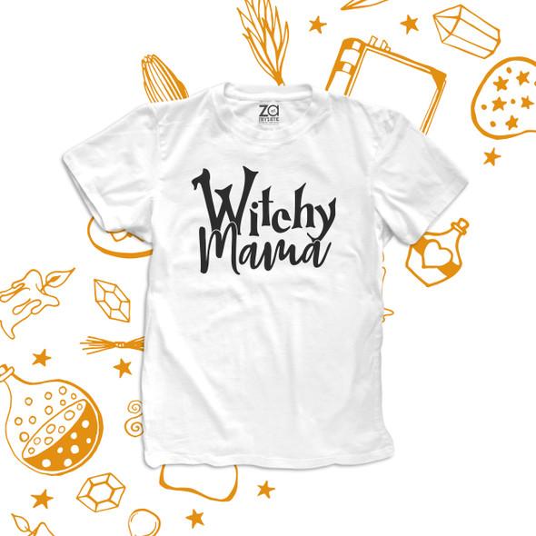 Halloween witchy mama unisex crew neck or women's v-neck shirt