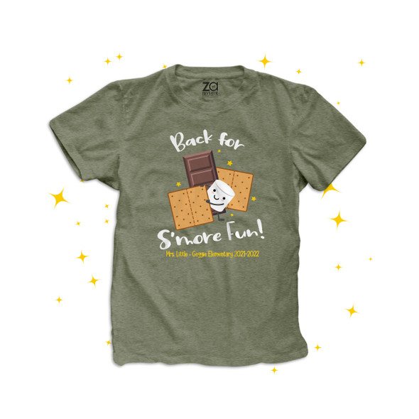 Teacher back for s'more fun back to school personalized DARK Tshirt