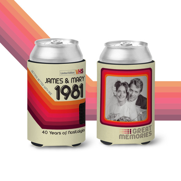 40th anniversary great memories nostalgia any year anniversary photo can coolie