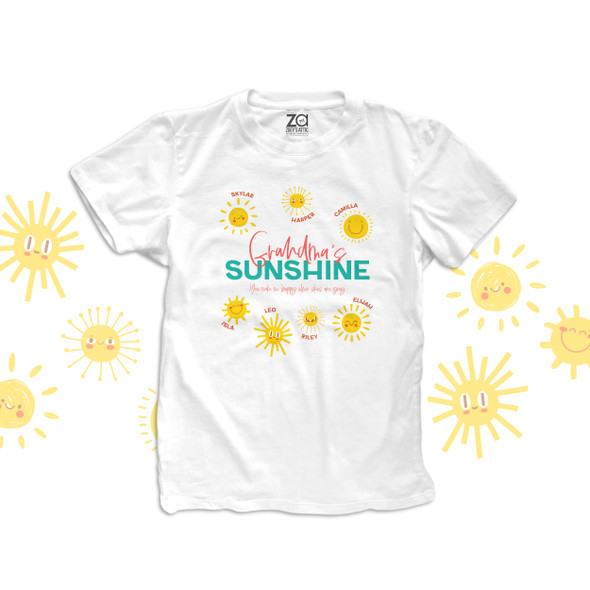 Grandma's sunshine you make me happy when skies are grey Tshirt