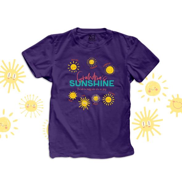 Grandma's sunshine you make me happy when skies are grey DARK Tshirt