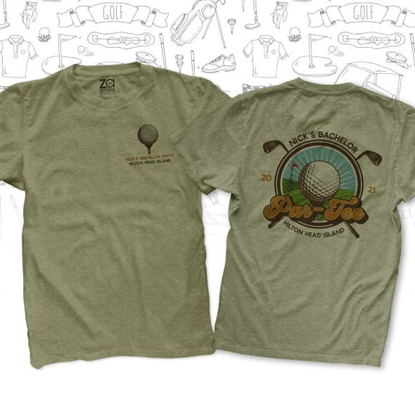 Bachelor par-tee golf trip personalized Tshirt