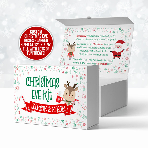 Christmas eve kit personalized treat box for kids