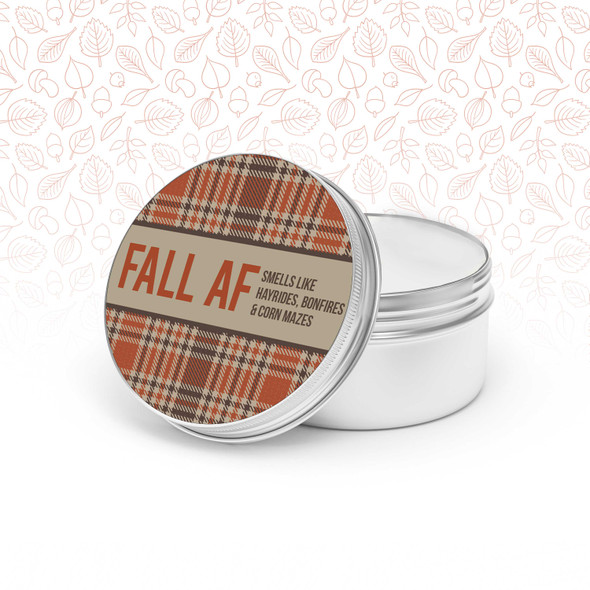 Funny Fall AF soy blend wax candle