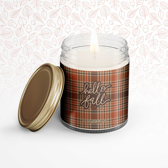Hello Fall soy blend wax candle