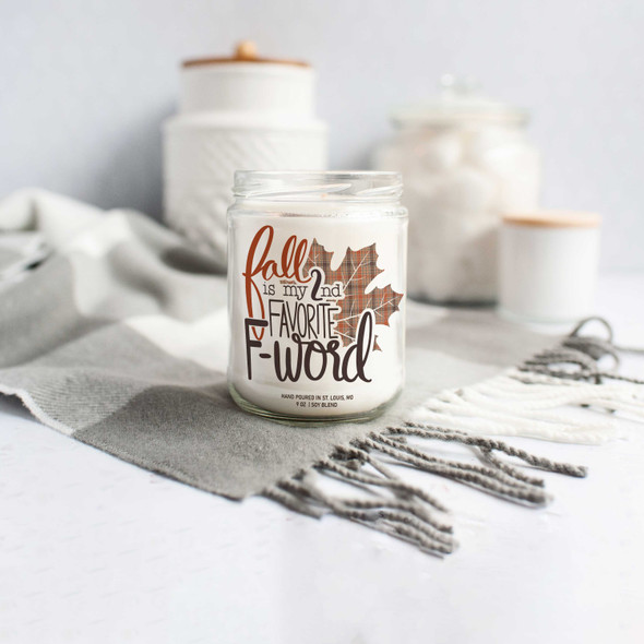 Funny fall is my 2nd favorite f-word soy wax candle